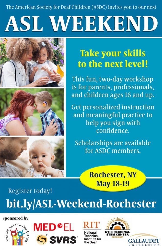 ASL Weekend Rochester 2019 Flyer