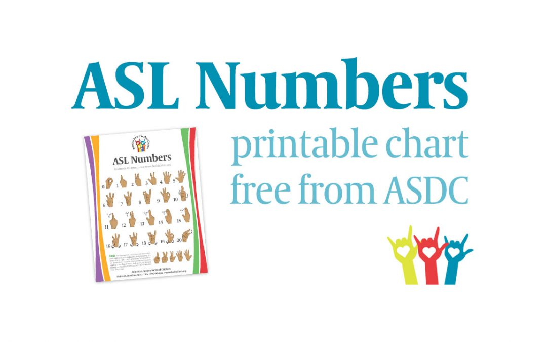 Free ASL Numbers Chart