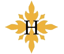 image shows the letter h with a yellow patterned background