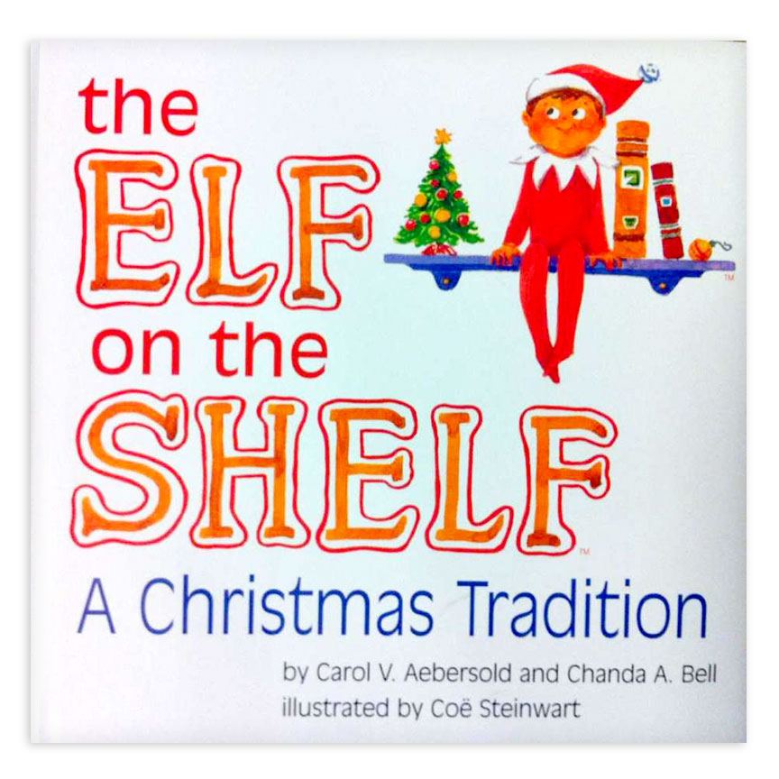 image shows cover of the book elf on the shelf