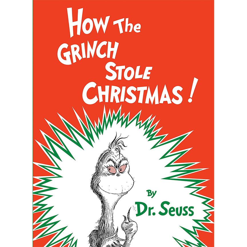 image shows cover of book How the Grinch Stole Christmas