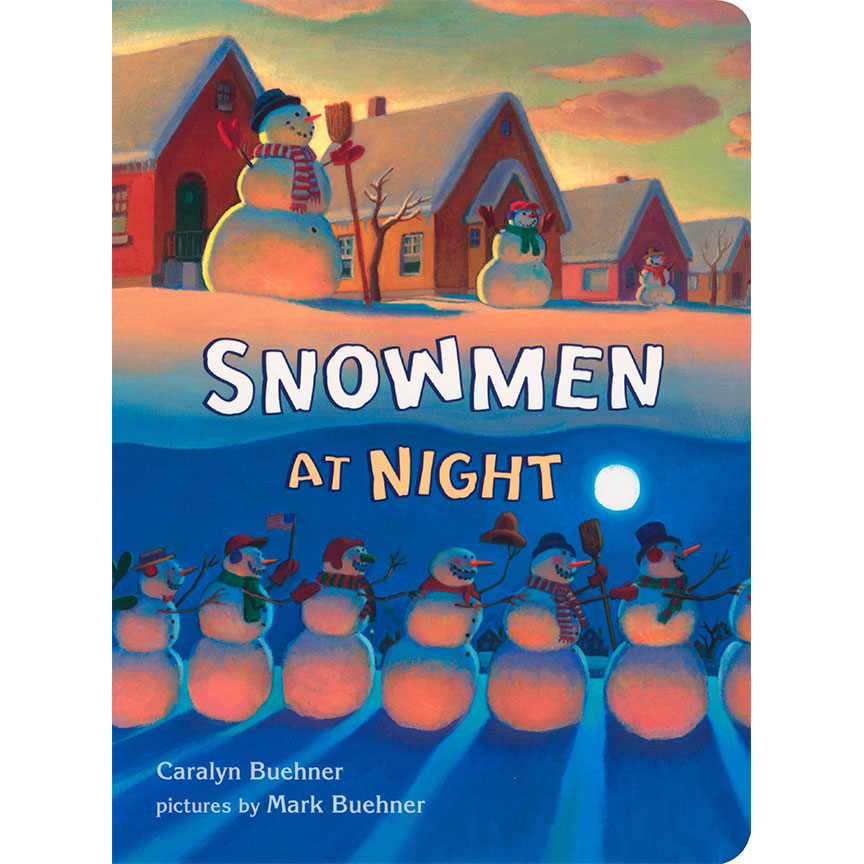 image shows cover of the Snowmen at Night book