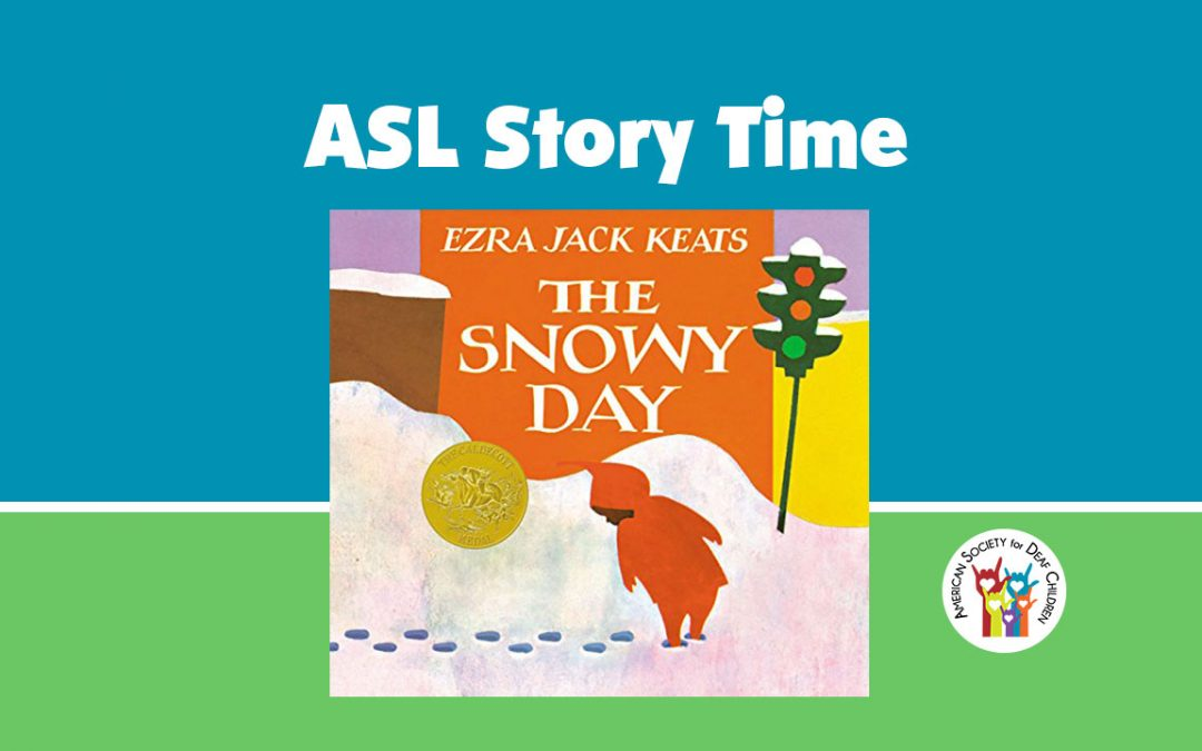 cover of the children's book The Snowy Day with a young boy looking at his footprint in the snow