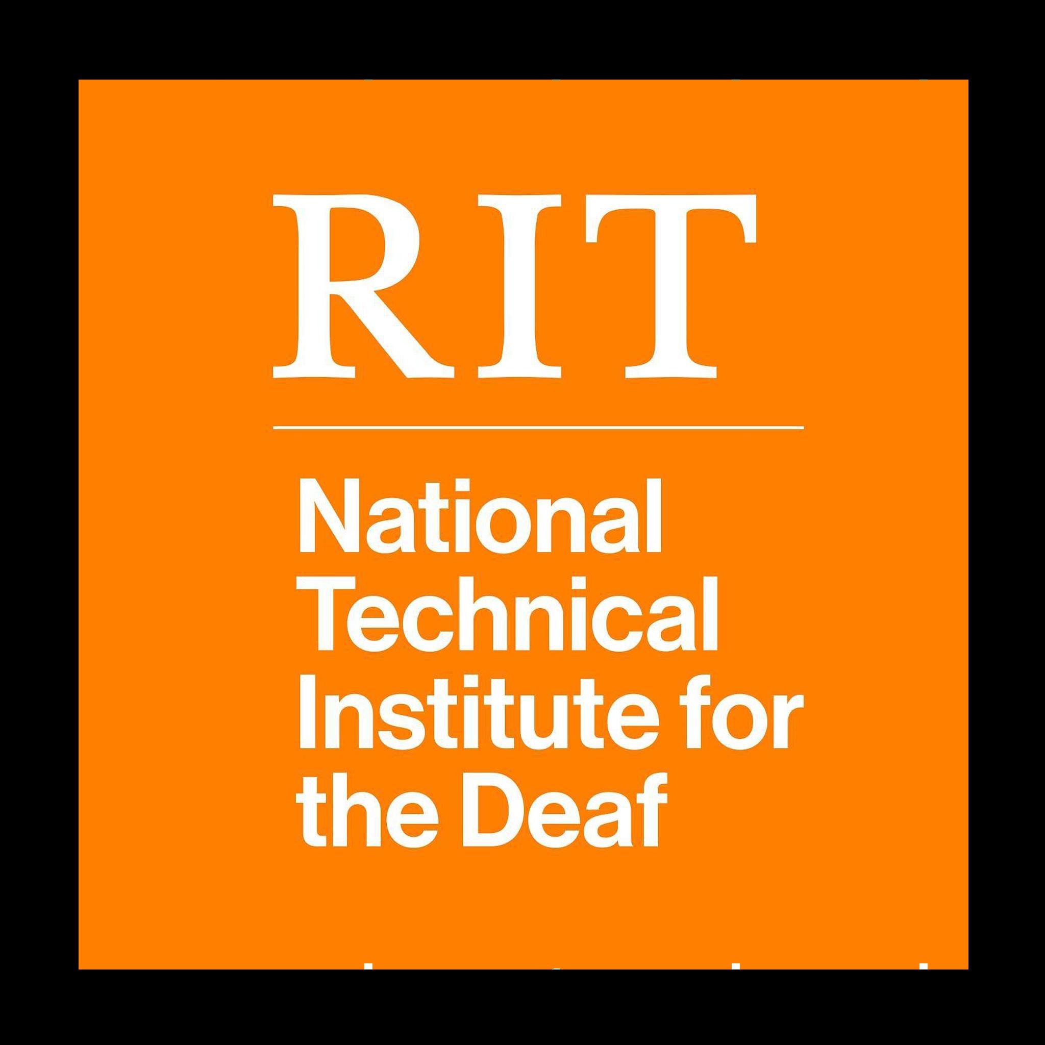 RIT-NTID logo in orange circle