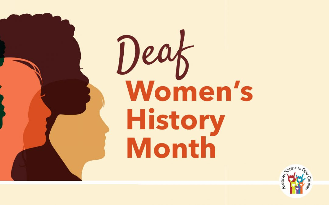 asl resources for deaf women's history month - image shows outline of women's faces