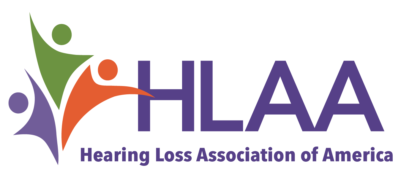 Logotipo de la Asociación Estadounidense de Pérdida Auditiva (HLAA)