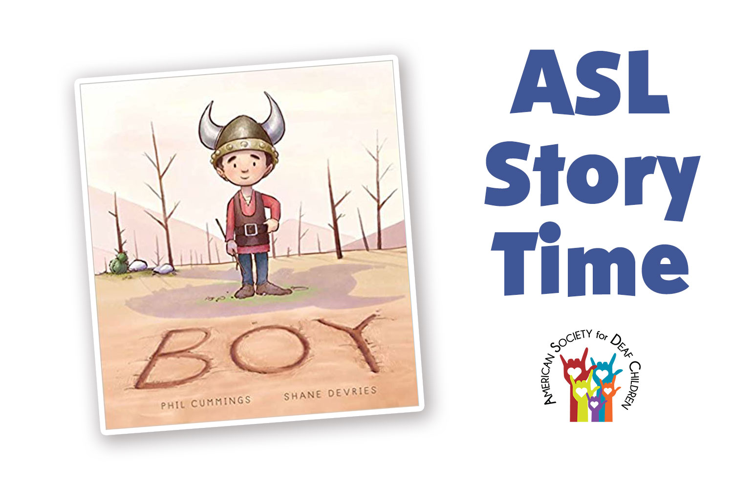 """image shows the cover of the book """"Boy"""" which shows a small boy in a Viking hat standing on sandy ground"""