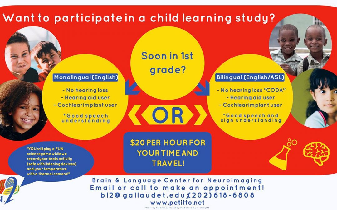 First Graders Needed for Study in DC Area